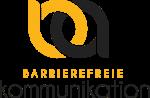 Logo Barrierefreie Kommunikation